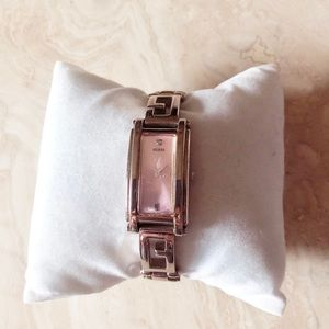 Guess Watch with Diamond - Pink and Silver